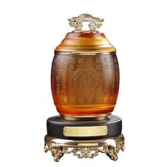 茶叶罐琉璃摆件