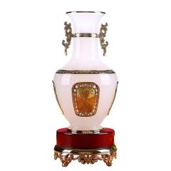 大富大贵花瓶摆件琉璃工艺品