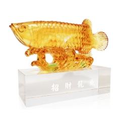 金龙鱼琉璃摆件