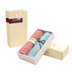 纯色纯棉毛巾 长绒棉 毛巾2件礼盒套装