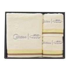 美的定制毛巾三件套 2条毛巾1条浴巾套装