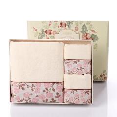 毛巾礼盒装礼品套装2条装高档礼盒套装