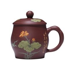 原矿紫砂杯带盖办公室茶杯订制