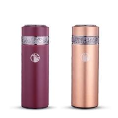 不锈钢真空紫砂保温杯高档礼品可订制
