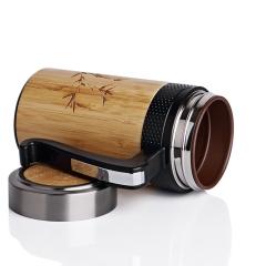 竹木纹紫砂杯养生杯订制