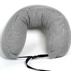 2018款旅行护颈粒子u型枕头 可爱条纹泡沫粒子u型枕定制