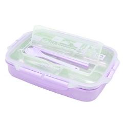 日式304不锈钢保温饭盒4格可注水便当盒学生成人长方形3分格餐盒