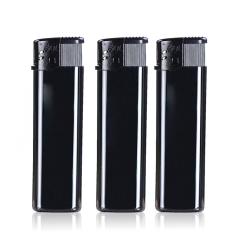 塑料打火机定做 广告打火机定制印刷 全黑色打火机