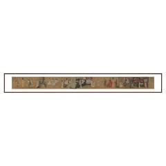 翔华阁中式客厅装饰画人物画国画办公韩载熙夜宴图仿真字画logo定制