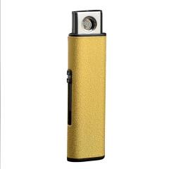 usb充电打火机防风创意电子点烟器金属带USB接口