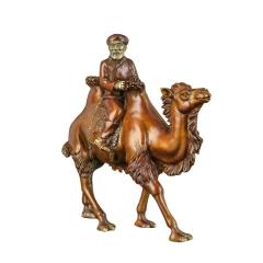 铜先生沙漠之舟一带一路 纯铜骆驼摆件 客厅办公室桌面工艺品原创logo定制
