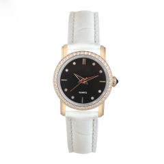 高档镶钻真皮女士机械手表