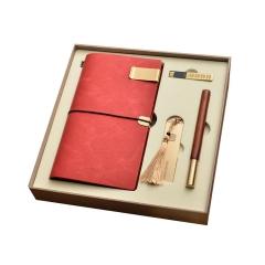 笔记本书签红木笔u盘商务套装 年会礼品