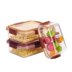 厨房带盖密封便当盒_微波炉/冰箱保鲜盒