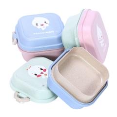 小麦秸秆餐具儿童保鲜饭盒