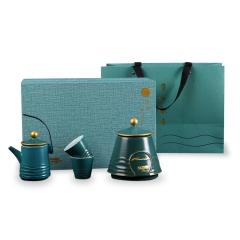 陶瓷一壶三杯带茶叶罐 茶叶罐套装商务年会礼品