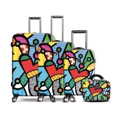 国HEYS高配高档ABS+PC印刷套四万向轮TSA锁拉杆行李箱包