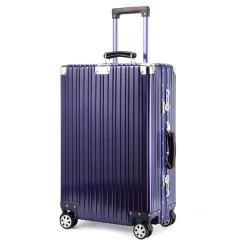 24 26寸男女士旅行行李箱 商务复古全铝箱拉杆箱万向轮大行李箱包logo定制