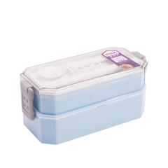 便携式双层日式便当盒分格餐盒